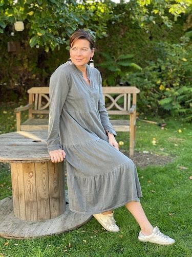 Bomulls klänning Antracit