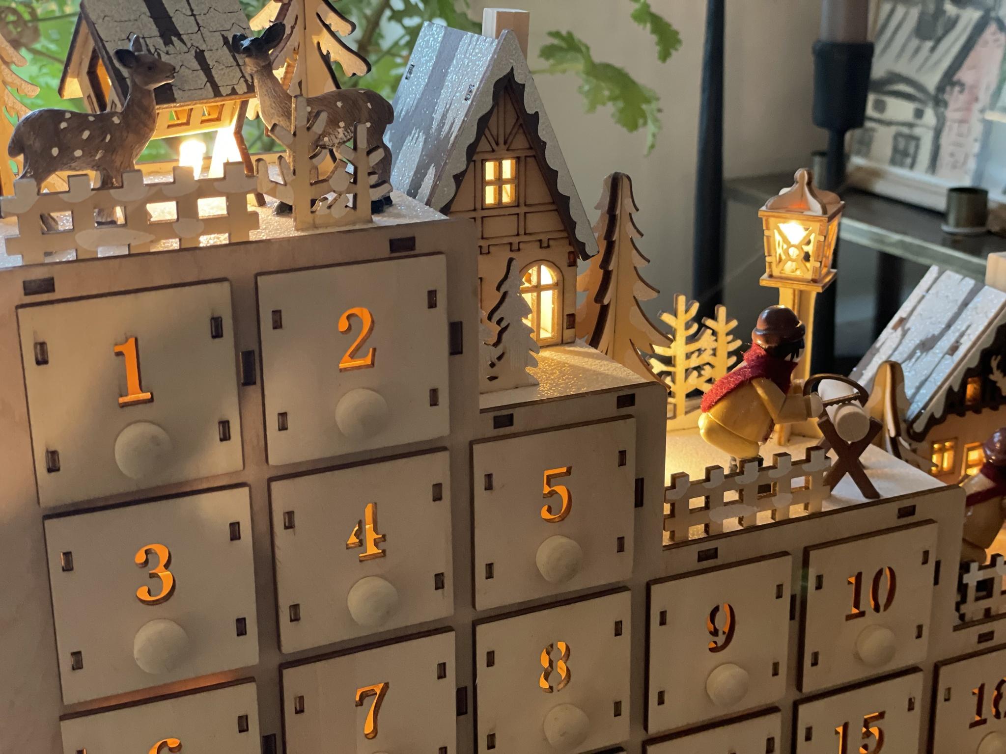 Julkalender winter Wonderland slott
