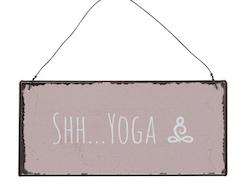 Skylt yoga