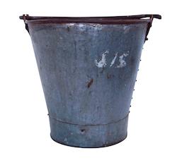 Old rustic zink bucket