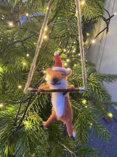 Juldekoration hängande räv