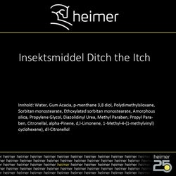 Insektspray Ditch The Itch 1liter Heimer