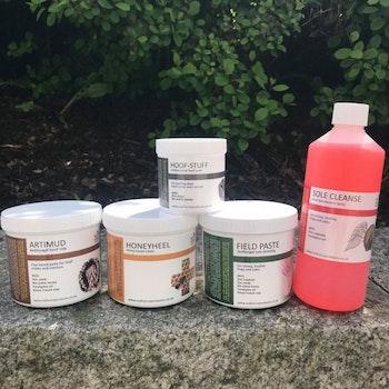 Pakketilbud (Honeyheel, Artimud, Field Paste, Sole Cleanse og Hoof-Stuff)