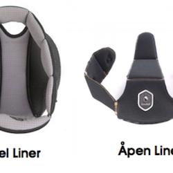Samshield Premium Alcantara / Leather Black, silver chrome detaljer, med liner inkludert