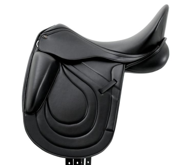 Bletchley Synthetic Mono Flap Dressage Saddle - Black - Medium Gullet