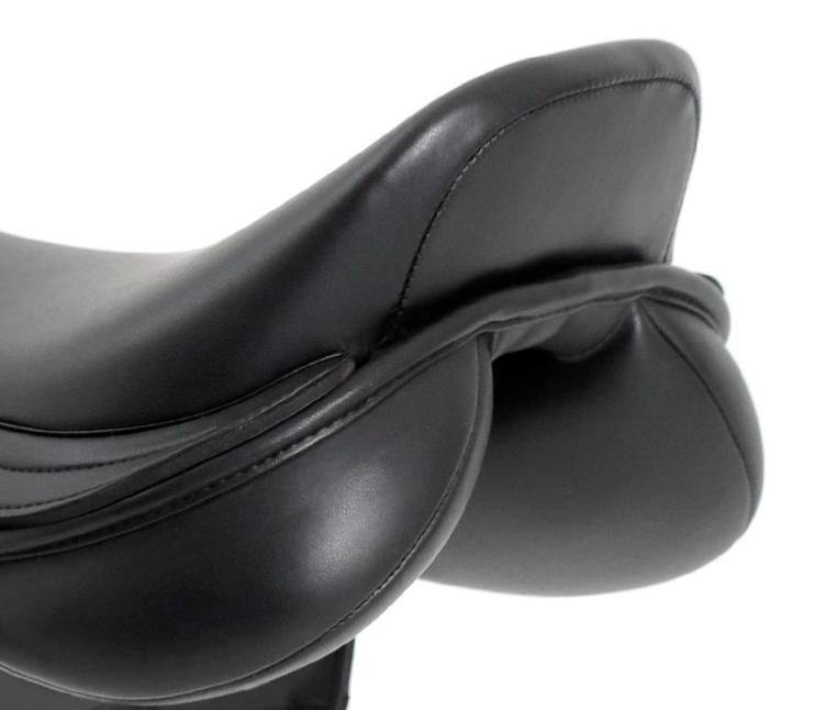 Bordeux Synthetic Mono Flap Cross Country Saddle - Black - Medium Gullet
