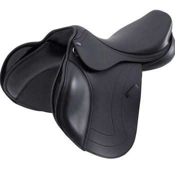 Prideaux Synthetic Close Contact Jump Saddle - Black - Medium Gullet