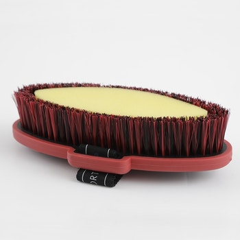 Soft-Touch Body Wash Brush svart/rød