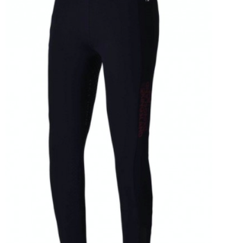 Kingsland KANDY GIRLS F-TEC F-GRIP COMP TIGHTS - Junior navy med rød detaljer