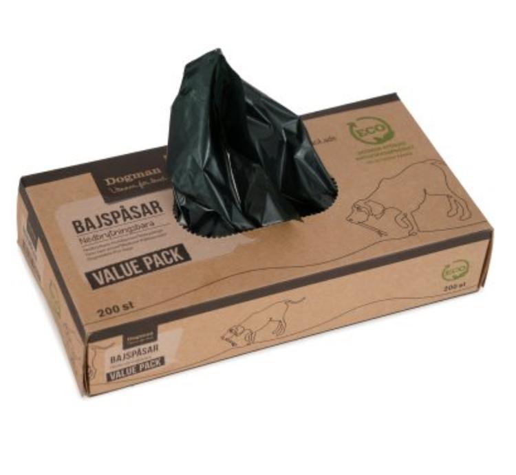 Bajspåsar nedbrytningsbara 200 poser i en pakke