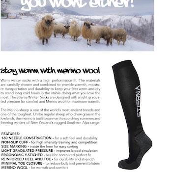 Winter Riding Socks fra Stierna i sort