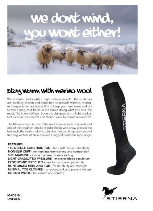 Winter Riding Socks fra Stierna i navy