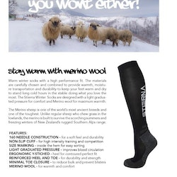 Winter Riding Socks fra Stierna i navy