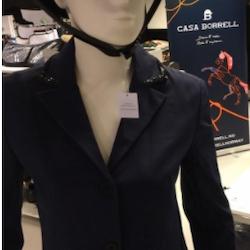 Camille navy stevnejakke med svart Crystal Frame