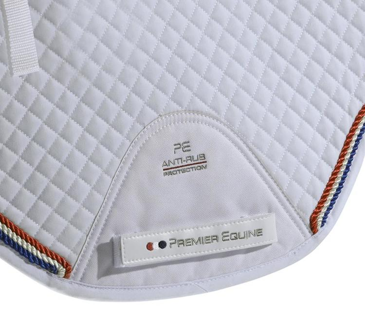 European Cotton Saddle Pad - GP/Jump Square (hvit)
