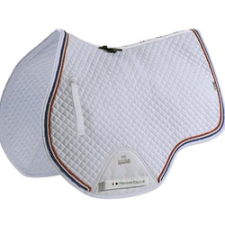 European Cotton Saddle Pad - GP/Jump Square (hvit)
