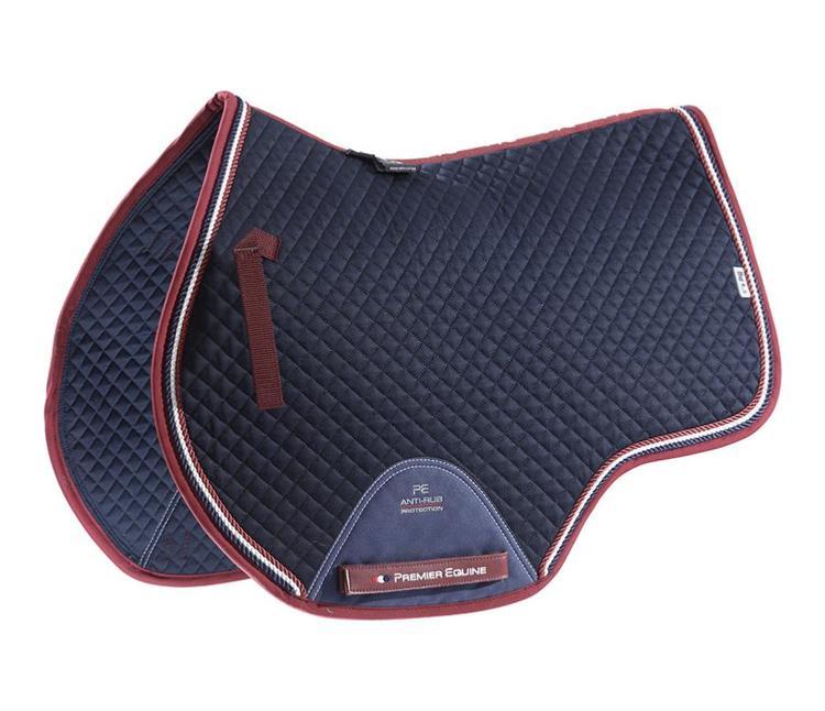 European Cotton Saddle Pad - GP/Jump Square (navy)
