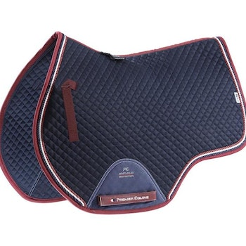 European Cotton Saddle Pad - GP/Jump Square (navy)