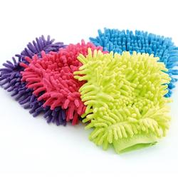 Microfibre vaskehanske (grønn/lime)