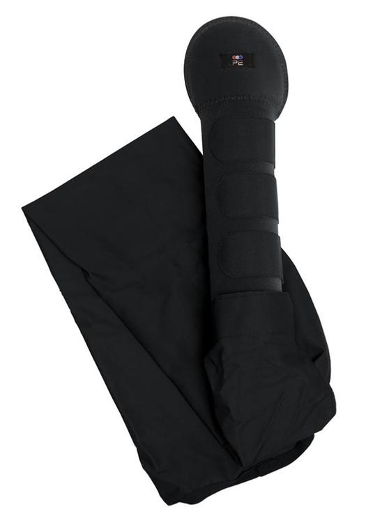 Padded Horse Tail Guard with Tail Bag - svart