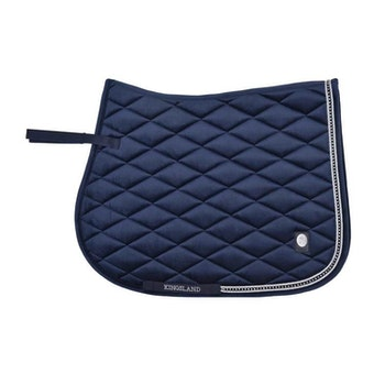 KINGSLAND DAWN VELVET SADDLE PAD W/COOLMAX - NAVY