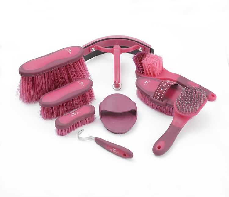 Deluxe Soft-Touch Grooming Kit Set - Wine and Fuchsia