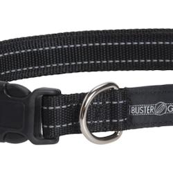 BUSTER Gear reflekshalsbånd, justerbar 25x450-650mm, Sort
