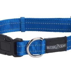 BUSTER Gear reflekshalsbånd, justerbar 25x450-650mm, Blå