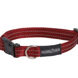 BUSTER Gear reflekshalsbånd, justerbar 25x450-650mm, Rød