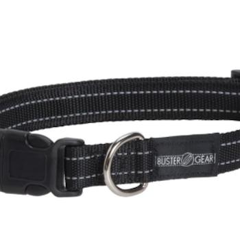 BUSTER Gear reflekshalsbånd, justerbar 15x280-400mm, Sort