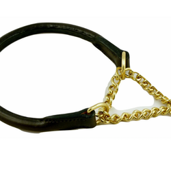 Yukon Choke collar chain leather