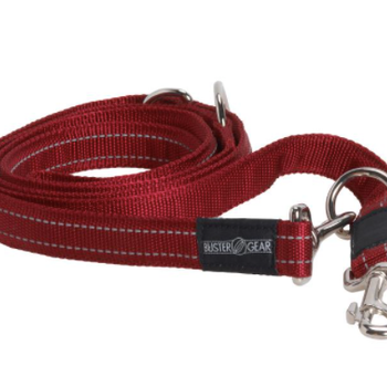 BUSTER 7-way lead, reflective, 25x2000 mm, red