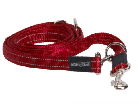 BUSTER 7-way lead, reflective, 10x2000 mm, red
