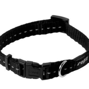 Rogz Utility Black Collar - svart og rosa small