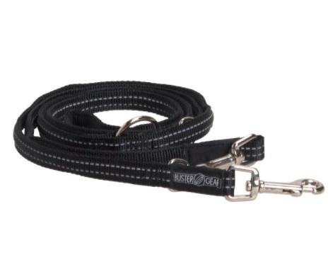 BUSTER 7-way lead, reflective, 25x2000 mm, black