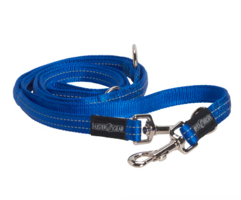 BUSTER 7-way lead, reflective, 20x2000 mm, blue