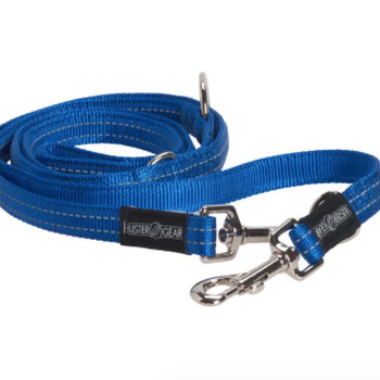 BUSTER 7-way lead, reflective, 10x2000 mm, blue