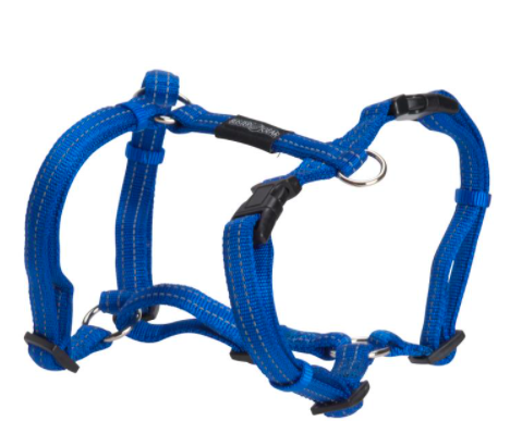 BUSTER Gear H-sele m/refleks, 25x750-1000mm, Blå