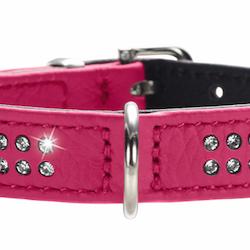 Hunter halsbånd rosa swarowski steiner XS
