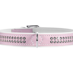 Hunter light pink med Swarovski steiner - 44-50cm