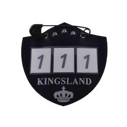 KINGSLAND IBAN NUMBER PLATE FOR SADDLE PAD