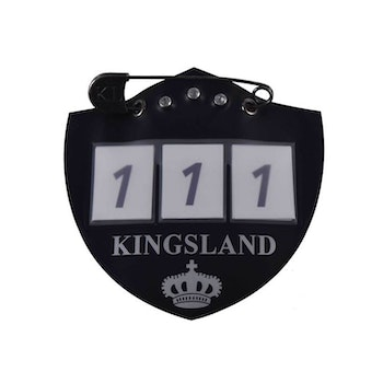 KINGSLAND IBAN NUMBER PLATE FOR SADDLE PAD