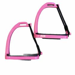 Stigbøyler i rosa