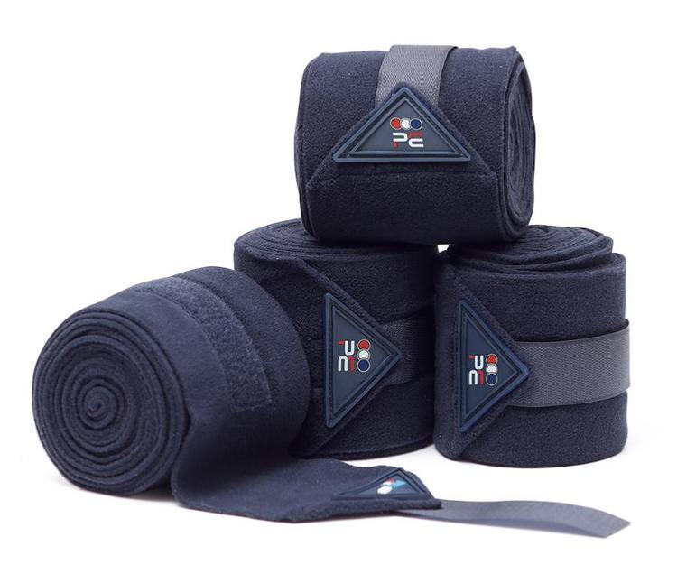 Horse Polo Fleece Bandages - NAVY