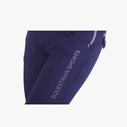 Ridebukser Thirza Junior leg grip (QHP) - navy