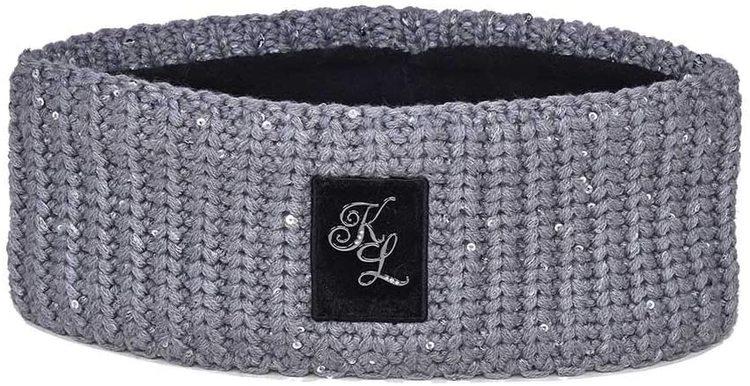 Kingsland Dolly Ladies Knitted Headband Dark grey