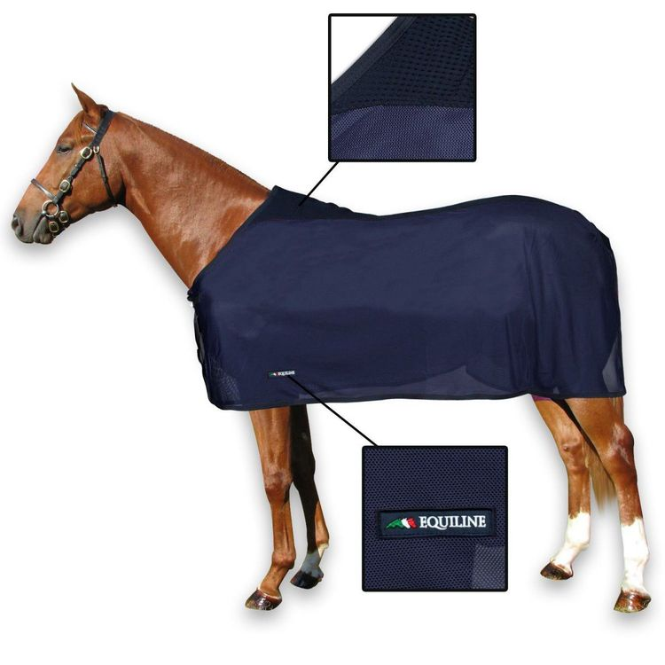 Equiline Venice Mesh Rug - navy