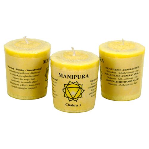 Rättivisemärkta doftljus - Manipura (Viljekraft)
