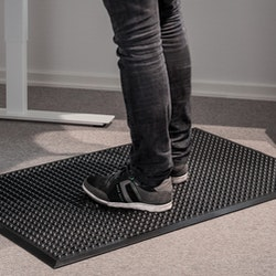 Pur-step svart arbetsmatta, ståmatta