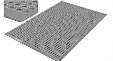 Pur-step ljusgrå ergonomisk ståmatta för kontor